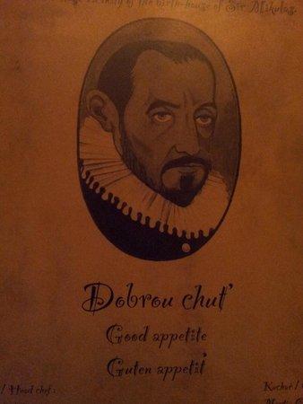 Dačický restaurant : Pivnice Dacicky Menu cover page