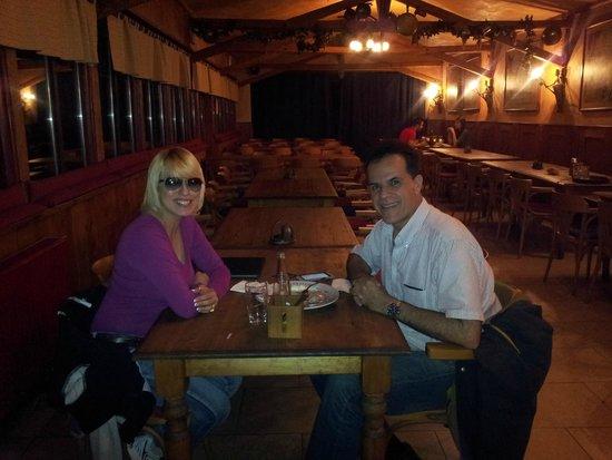 My husband and I at Pivnice Dacicky