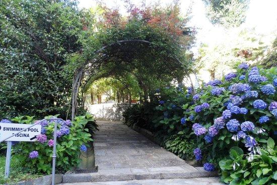 Hotel Beau Rivage : Ingresso principale del giardino che porta anche alla piscina