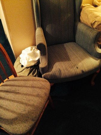 Best Western Sugar Sands Inn & Suites: Unidentified stains on the furniture of our king suite.