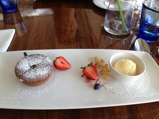 Restaurant Marina Grande: Dessert - flanc au chocolat, succulent