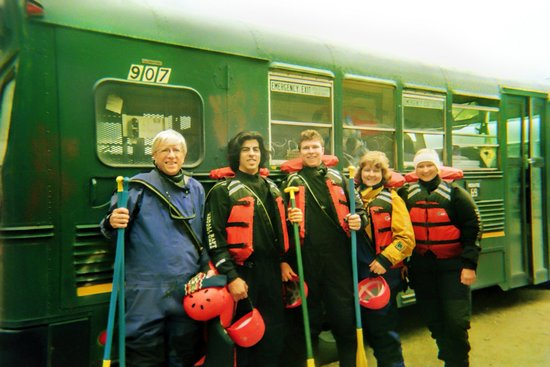 Denali Raft Adventures: Before the rafting...all suited up and ready to go!