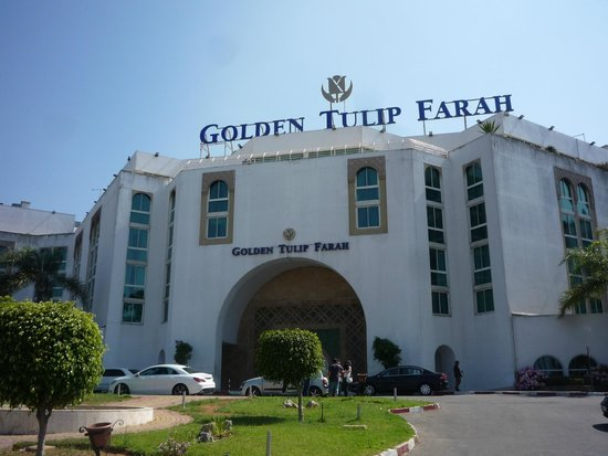 Golden Tulip Farah Rabat : The main entrance to the Hotel