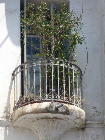 Golden Tulip Farah Rabat: Balcony from the colonial era near Hotel