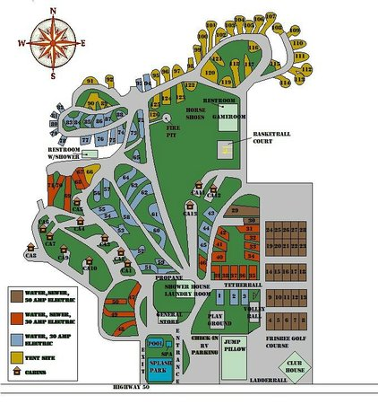 Prospectors RV Resort: Map of our campground