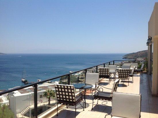 Rosso Verde Hotel: vue terrasse très belle sur les iles