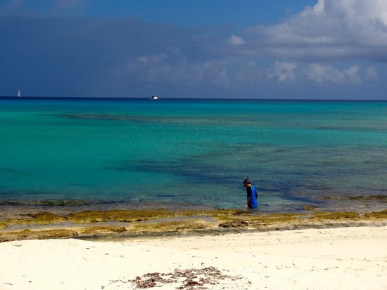 Malcolm's Road Beach: blue water