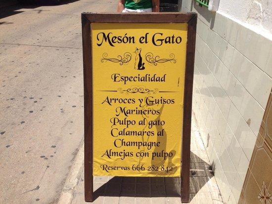 Meson El Gato : Especialidades