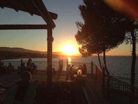 Zante Star: Balcony Hotel Resturant amazing Sunset Views