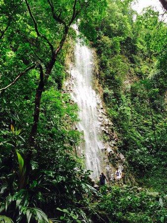Catarata La Fortuna: Rare secondary waterfall at La Fortuna today