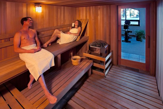 Edelweiss Lodge & Spa: The Edelweiss' dry sauna