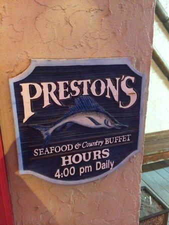 Preston's Family Seafood Restaurant: Prestons