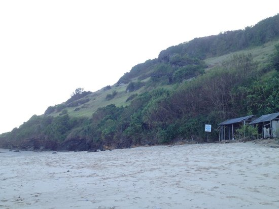 Gunung Payung Beach: the hill on the west side
