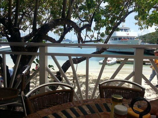 High Tide Bar & Seafood Grill : View from High Tide overlooking Cruz Bay