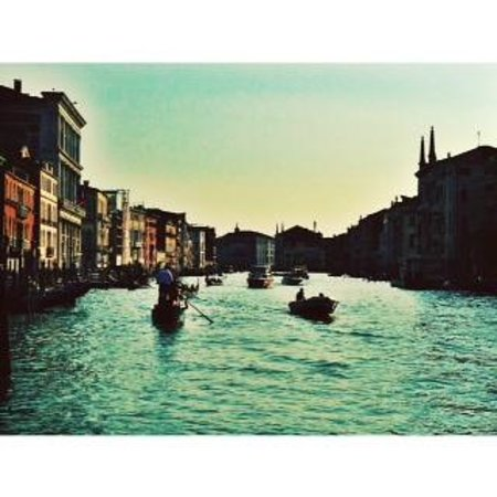 Canal Grande: View along the Grand Canal (from a gondola)