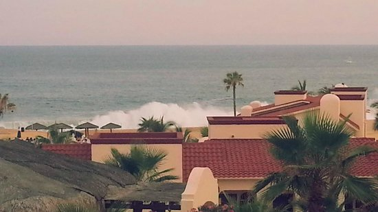 Solmar Resort: Our view from the Master bedroom, waves crashing violently.