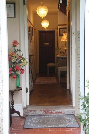 The Old Vicarage: The entrance and hallway.