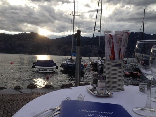 Hotel Excelsior Bay: Blick während des Essens....