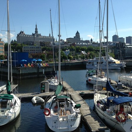 Old Port (Vieux-Port) : From the Marina looking toward Upper Town