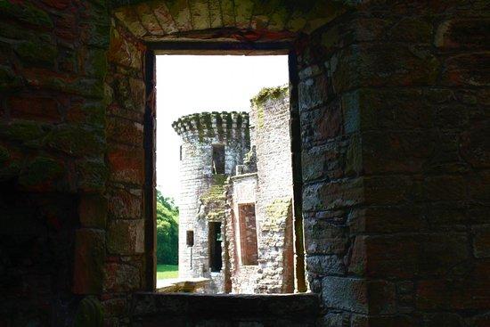Caerlaverock Castle: View from inside
