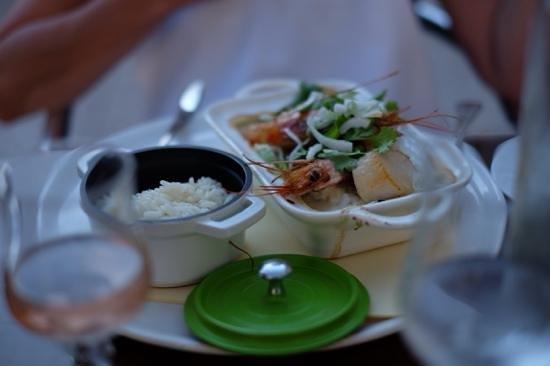 Le Provençal : Cassolette of prawn and scallops