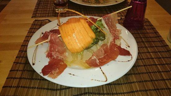 Le mistral : Melon charentais avec jambon de parme