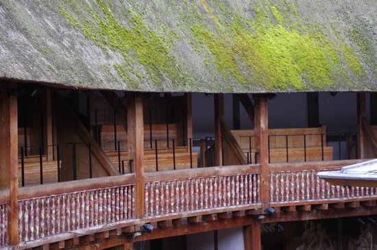 Shakespeare's Globe Theatre: From seats in the top of the Globe