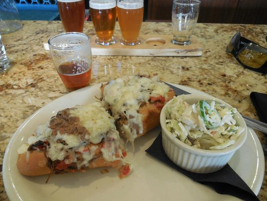 Double Horn Brewing Company: Cheese steak