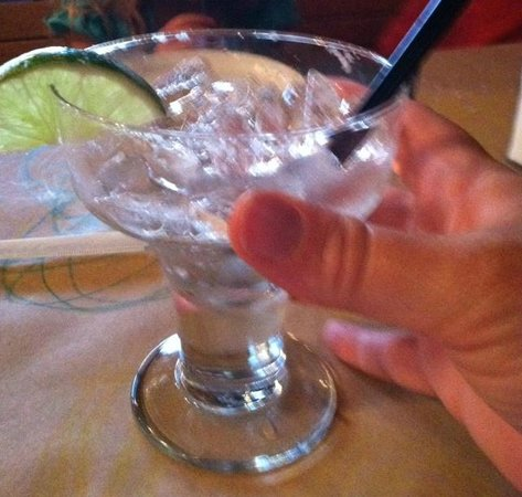 Altitude Chophouse and Brewery: Extra small Margarita glass