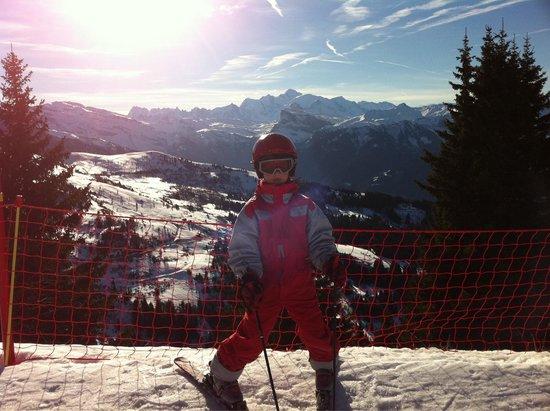 Ski Les Gets : Le mont blanc vu du ranfolly