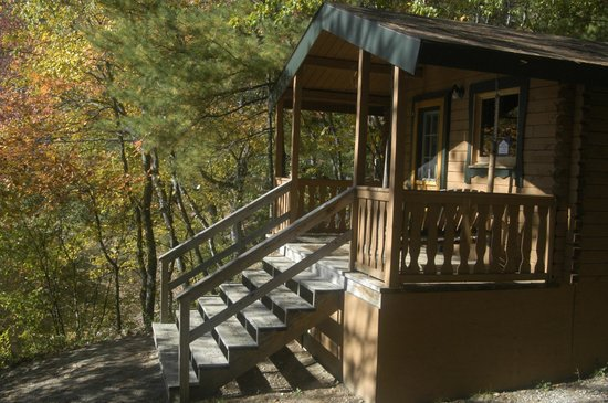 Rustic Cabin Front Lakeside Lodging Picture Of