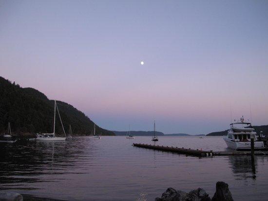 Rosario Resort and Spa : Cascade Bay at moonlight