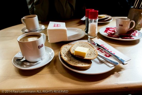 Früh am Dom: Coffee and bread as part of breakfast at Frueh