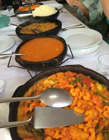 Restaurante Sao Pedro : As moquecas pedidas