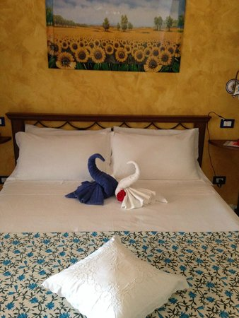 Villa Leucosia : swans in love
