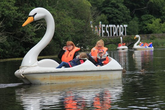 Westport House & Pirate Adventure Park : Swan Pedal Boats