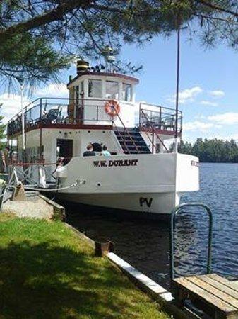 Raquette Lake Navigation Co: W.W. Durant at Raquette Lake