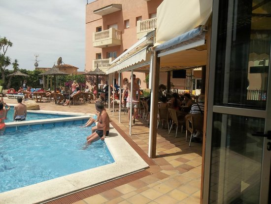 Hotel Alba Seleqtta: covered seating area for bar