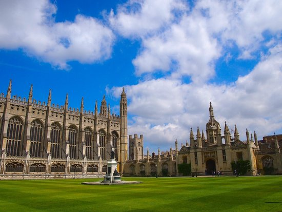 King's College Chapel: Looking across the courtyard