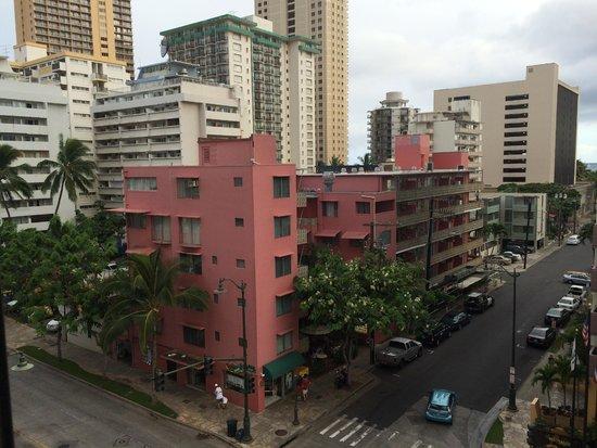 Vive Hotel Waikiki: View from window.