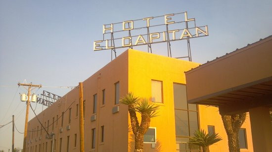 Hotel El Capitan: From the side parking lot.