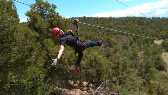 Royal Gorge Zip Line Tours: Stephen showing off on the Zip Line