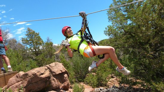 Royal Gorge Zip Line Tours: Launch from the Platform across the valley