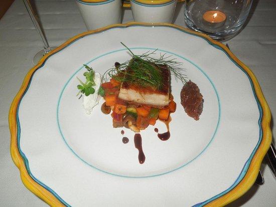 Grem Le Club Restaurant : Pancetta con verdure e composta di cipolle