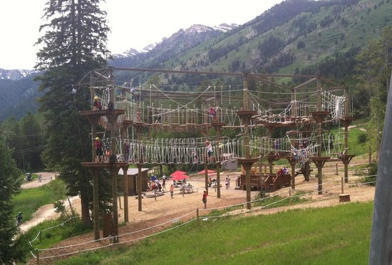 Jackson Hole Mountain Resort : Ropes Course, seen from the chair lift