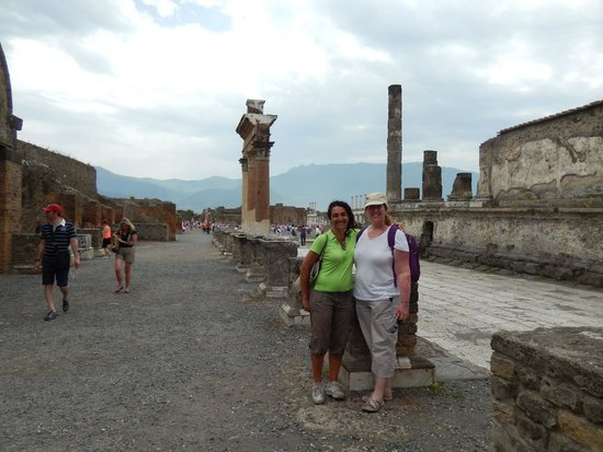 APTours Driver Tour Service: With official guide Pina at Pompeii
