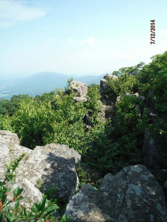 Appalachian Trail: Rockface adjacent to outcropping