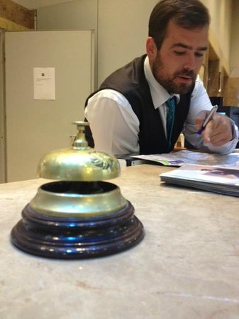 Tryp Madrid Atocha Hotel: Alex hard at work!