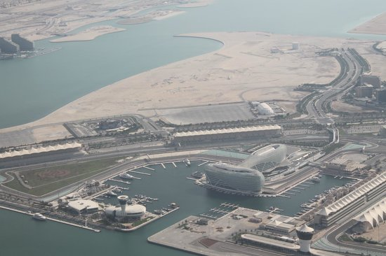 Yas Viceroy Abu Dhabi: from plane