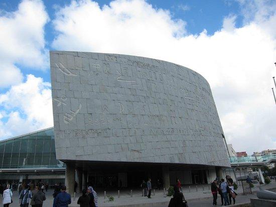 Bibliothèque Alexandrina (Bibliotheca Alexandrina) : Fasaden